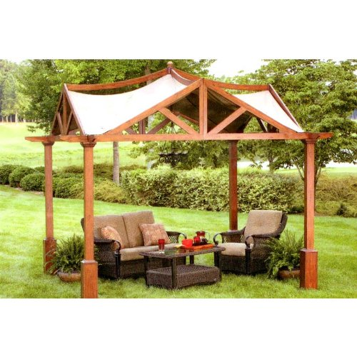 Replacement Canopy For Garden Treasures 10 39 X 10 39 Pergola Gazebo Garden Structures Patio And