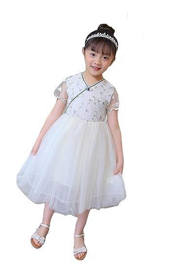 5eee2c35a9465 PIITE 子供ドレス 女の子 ワンピース キッズ ドレス 夏 半袖 プリンセスドレス ガールズ 子供服 フォーマル チュニック