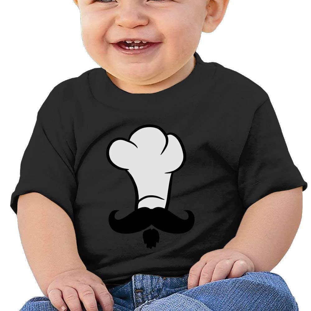 Moniery Cute Short Sleeve Tee Chef Mustache 2 Birthday Day Baby Boy Toddler