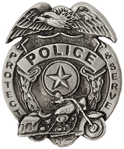 (Hot Leathers Police Badge Pin)