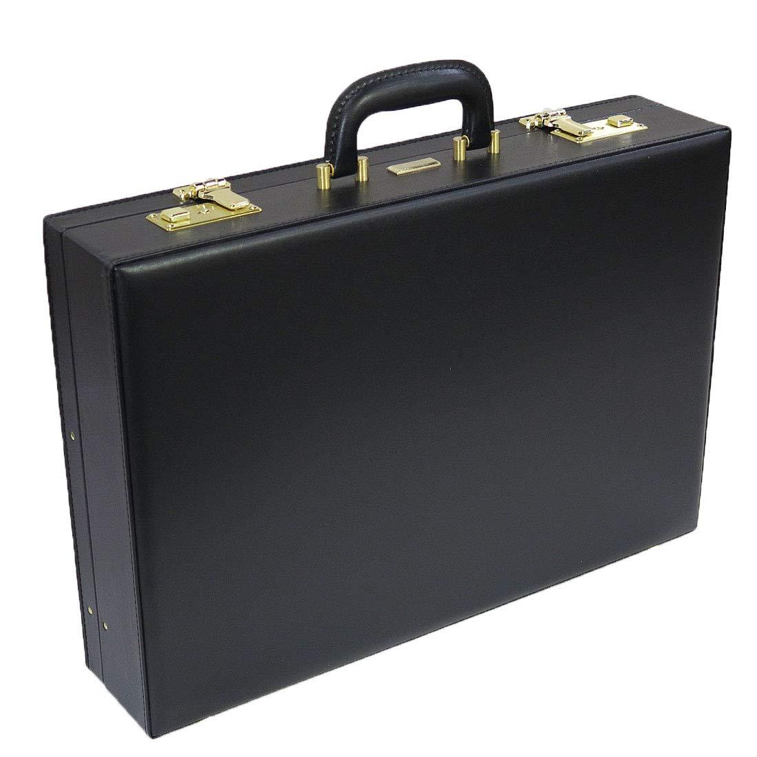 J.C HAMILTON 合成皮革製アタッシュケース 48cm[A3対応]21225 (ブラック) B07HD571WB