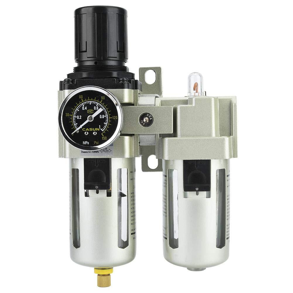 AC4010-06 Compressor Filter kit, 0.05-0.85 (mpa) 5μm-80μm Aluminum Alloy Type Air Pressure Compressor Filter Oil Water Regulator Tools Kit by Vikye