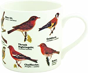 Gift Republic Garden Birds Bone China Mug, Multicolor