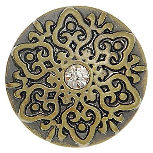 Tiffany Bronze Diamond - SODIAL(R) 1PC Snap Button Fit Snap Bracelets Rhinestone Snowflake Bronze Tone 20mm