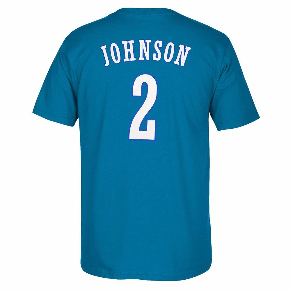 786730c3359 ... hot amazon adidas larry johnson charlotte hornets nba men blue  originals player name number retro jersey