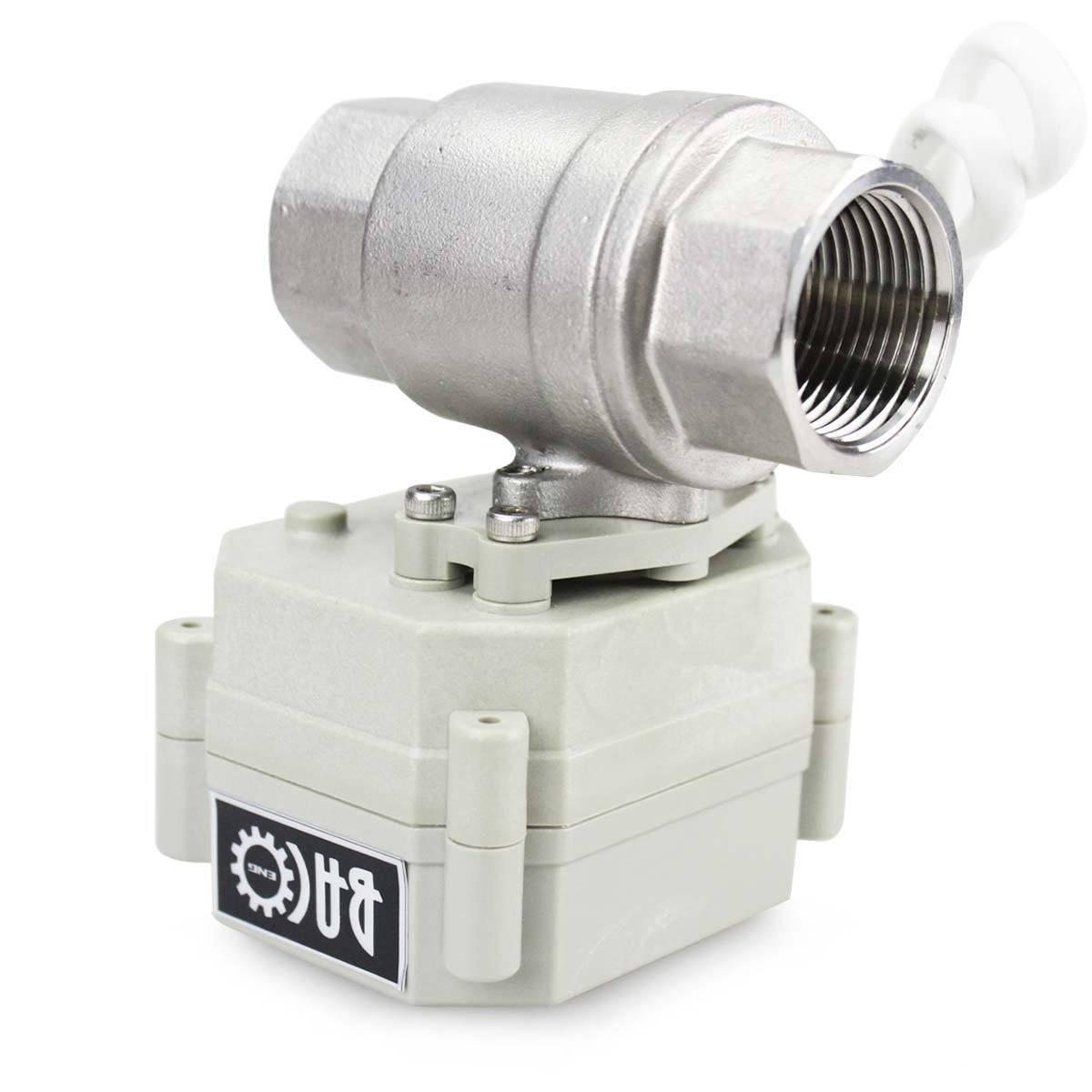 BACOENG 3//4 DN20 V/álvula Motorizada de Esfera de 2 V/ías de Lat/ón de AC110//230V CR202 NC