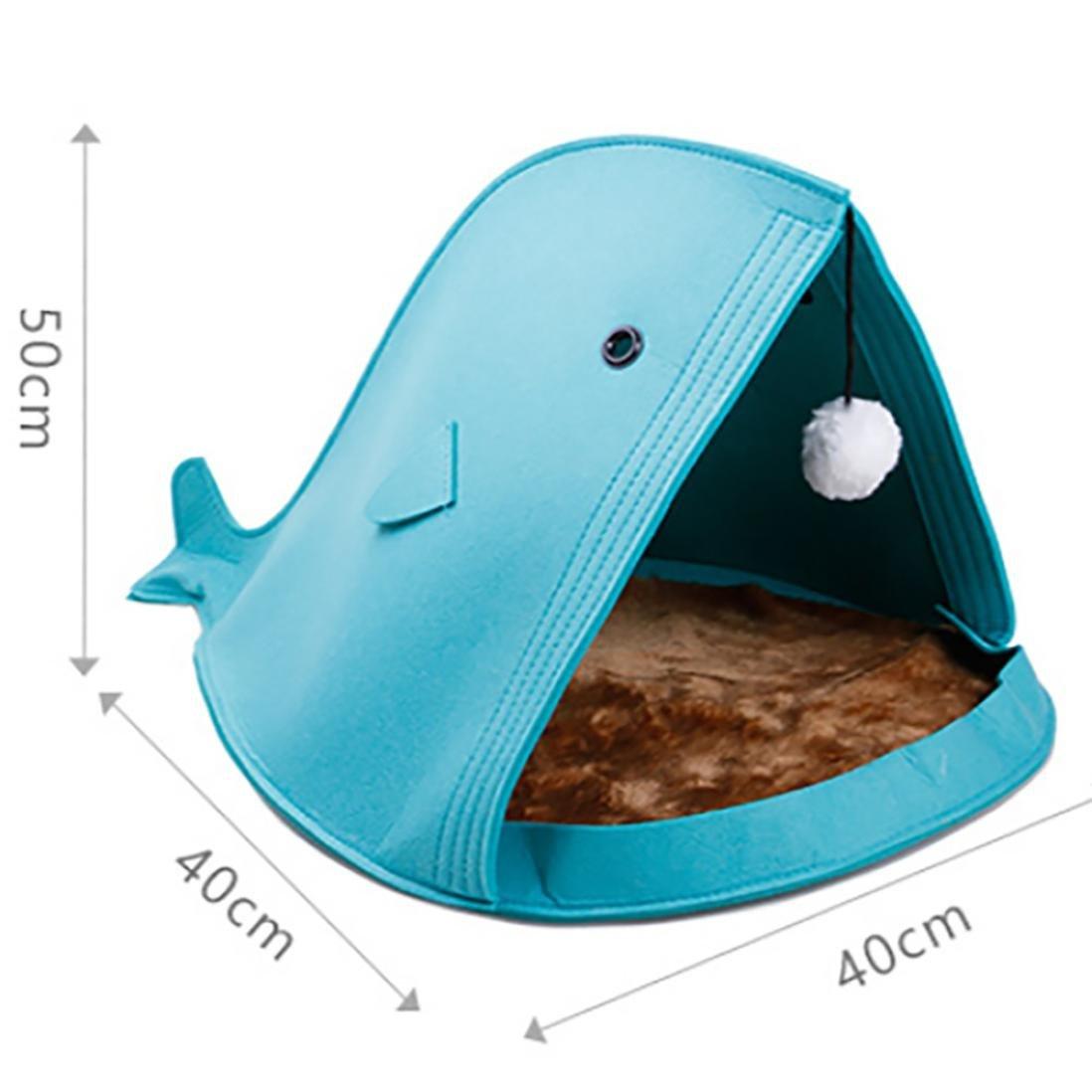 Bescita - Cama para Mascotas con Forma de tiburón para Perro, Gato, Cachorro, Suave, cálida y Plegable, Azul: Amazon.es: Deportes y aire libre