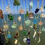 Whimsical Beach Glass Sun Catcher Driftwood Mobile Beach Wedding Bohemian Window Eco Friendly Art Lake Erie Ohio Buckeyes