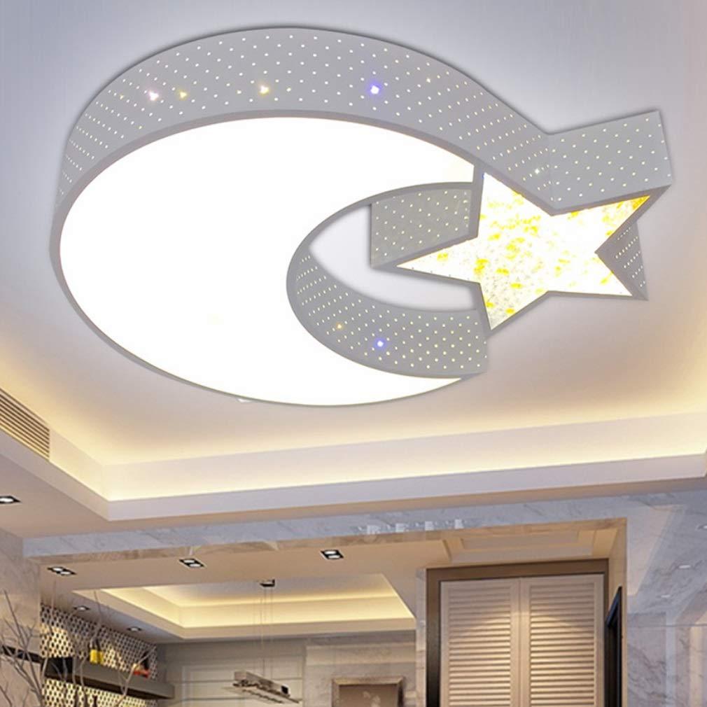 RSQJ Lampada da soffitto per Camera dei Bambini Stella Luna Lampada da Letto a LED (Size : 50 * 40 * 10cm) gaofei88