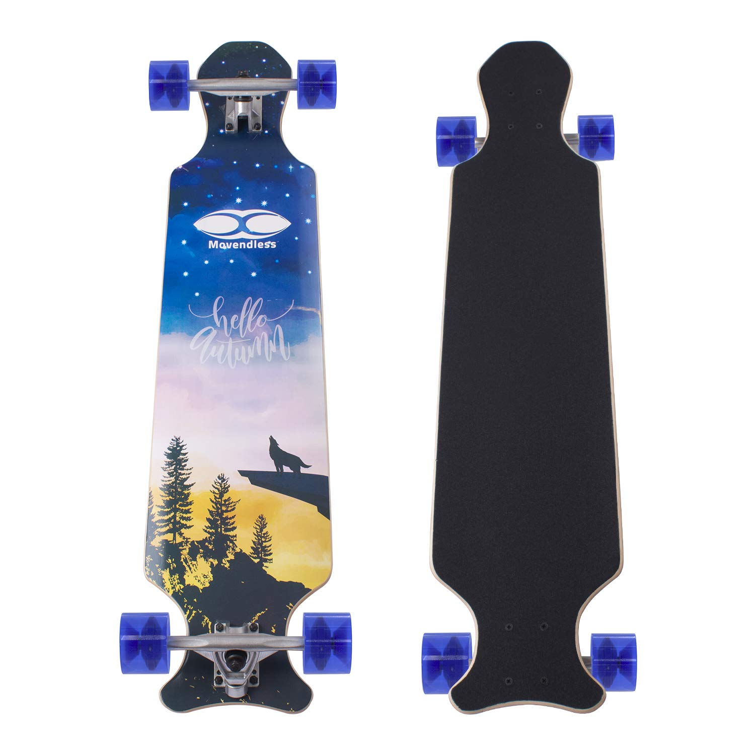 Movendless YD-0015 39 Inches Skateboard 8 Layer Canadian Maple Wood Longboard Complete Skate Board