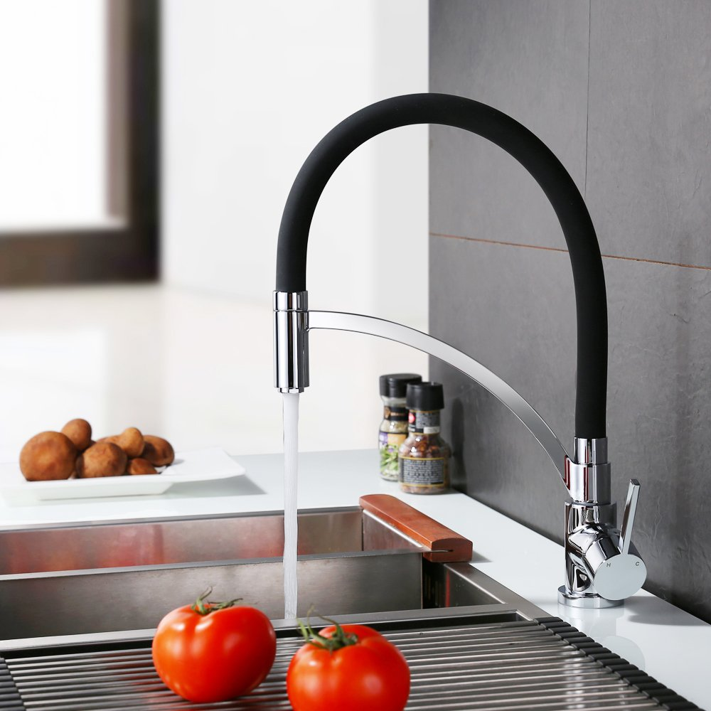Homelody Schwarz Wasserhahn Küche Küchenarmatur Armatur Spüle ...