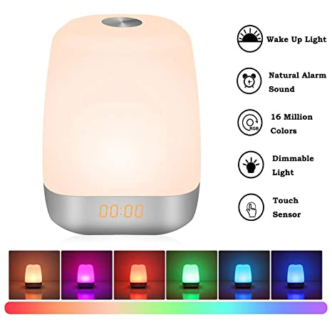 Amazon.com  Amouhom Wake Up Light Digital Alarm Clock d9a6953a0