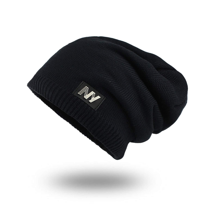 Mens Knit Hat Beanies Men Winter Hats for Bonnet Skullies Caps Women Warm Thicken Baggy Mask
