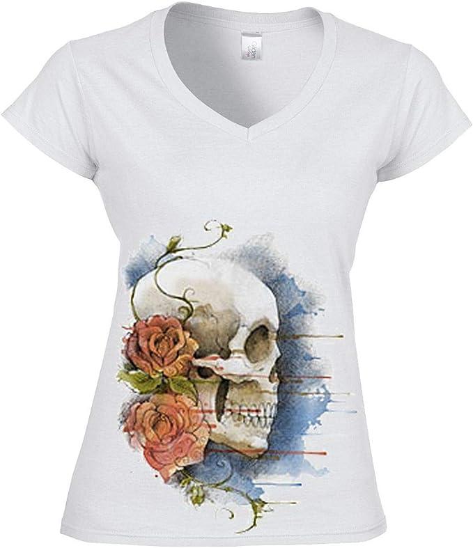 Acheter t-shirt femme tete de mort online 12