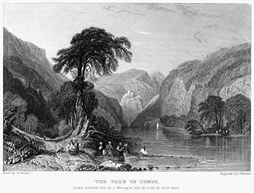 Greece Vale Of Tempe Nview Of The Vale Of Tempe A Gorge In Thessaly In Northern Greece Where The Pineios River Flows Between Mount Olympus And Mount Ossa Steel Engraving English 1833 By James Willmore
