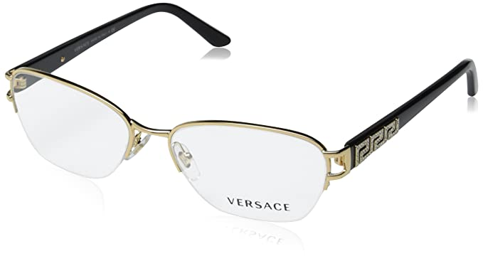 5cf4452ca36 VERSACE Eyeglasses VE 1215B 1002 Gold 53MM  Amazon.co.uk  Clothing