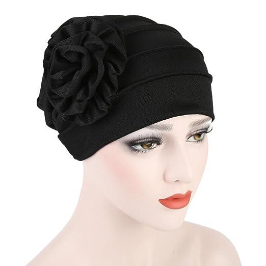 Amazon.com: Gilroy Womens Muslim Hijab Turban Elegant Strench Side Flower Chemo Cancer Cap: Clothing
