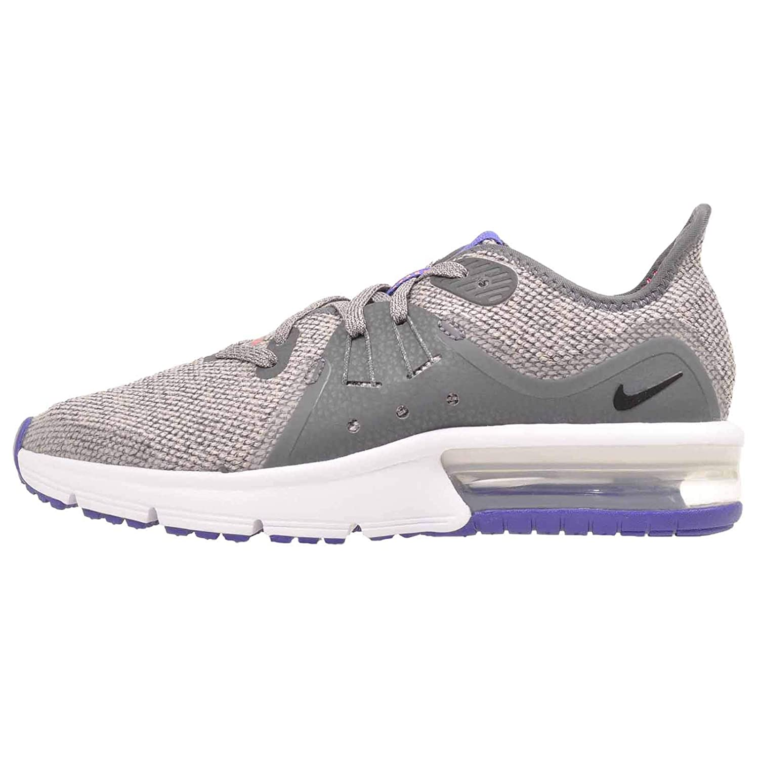 Nike Boys Air Max Sequent 3 (GS) Running Shoe Grade School (4 M US Big Kid, Dark GreyBlackMoon Particle)