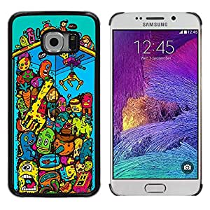 For Samsung Galaxy S6 EDGE - Claw Game Machine Toy Monsters Illustration /Modelo de la piel protectora de la cubierta del caso/ - Super Marley Shop -