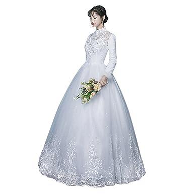 Amazon 冬 ウエディングドレス 結婚式ドレス 二次会 ドレス 花嫁
