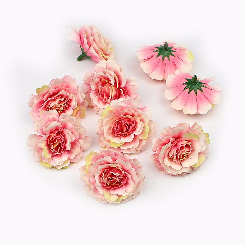 Amazon Artificial Flower Heads Silk Rose Flowers For Wedding