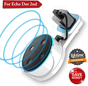 Echo Dot Wall Mount Amazon Echo Wall Mount Dot Holder Alexa Dot Plug Mount A Space-Saving Wall Mount Echo Dot for Smart Home Speaker Without Messy Wires or Screws (Pack 1, White)