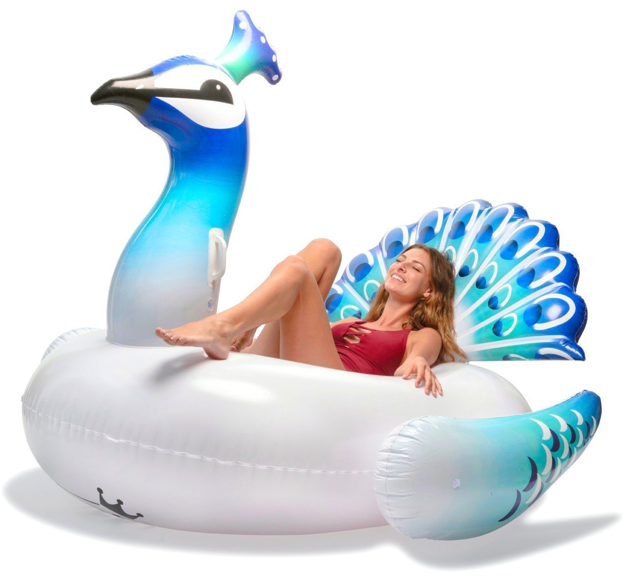 Fly 150 Peacock Floating Row Water Adult Riding Floating Bed Inflatable Floating Row
