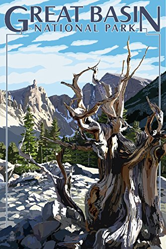 Great Basin National Park - Wheeler Peak (9x12 Art Print, Wall Decor Travel Poster) ()