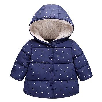 renombre mundial colores delicados marca popular Algodón Abrigo para Niñas, Chaquetas con Capucha Invierno Calentito Ligero  Abrigo Ropa para Bebés Niños