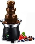 THRITOP Chocolate Pro Fountain,3-Tier Stainless Steel Tower Chocolate Fondue, Fountain kit