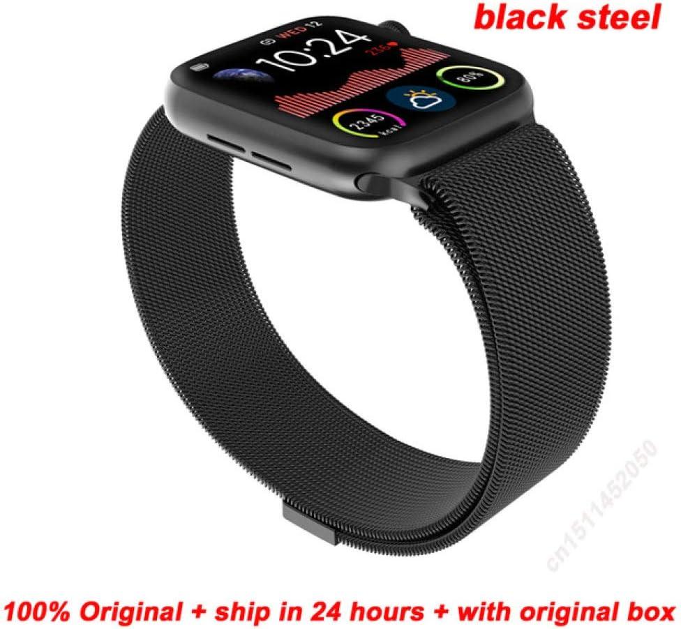 LYWBLACK Bracelet Intelligent pour Homme S/érie 5 Full Touch IP67 /étanche Fitness Tracker Cardiofr/équencem/ètre Smartwatch VS W58 Iwo 12