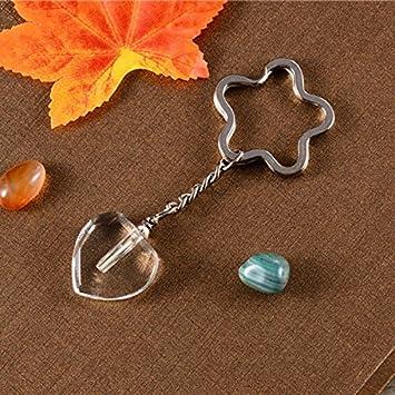 2 x 12 mm Tritio Tube Crystalline Flask Heart-shaped llavero ...
