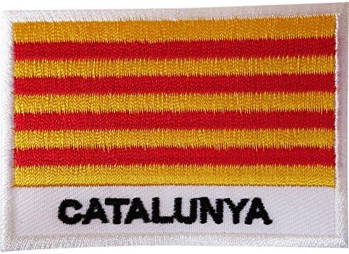Parche para coser, diseño de la bandera de Cataluña, Aragón, Islas Baleares, Valencia, España: Amazon.es: Hogar