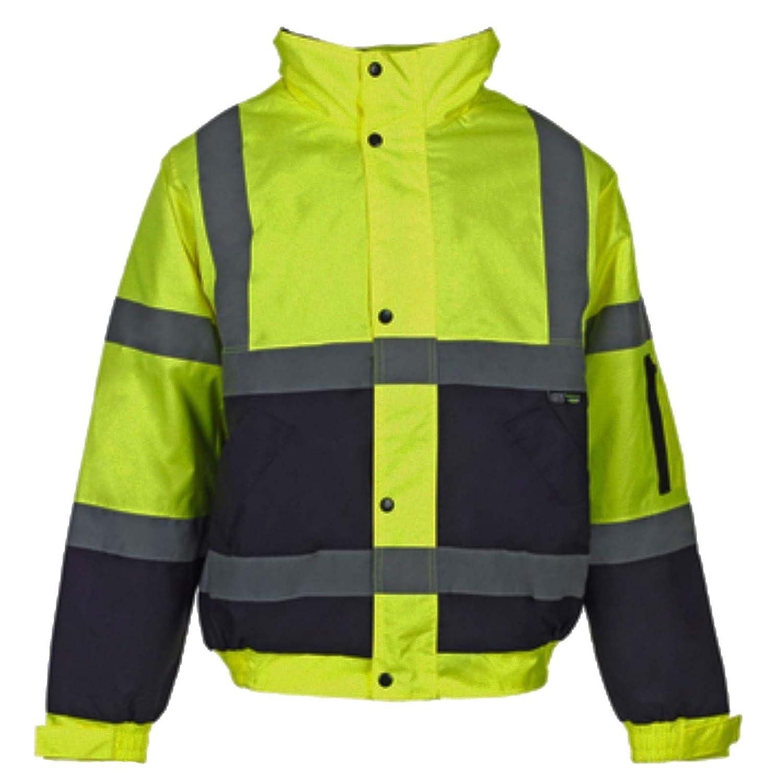 Kapton Hi Viz High Vis Visibility Bomber Jacket Work Coat Security Jacket Waterproof