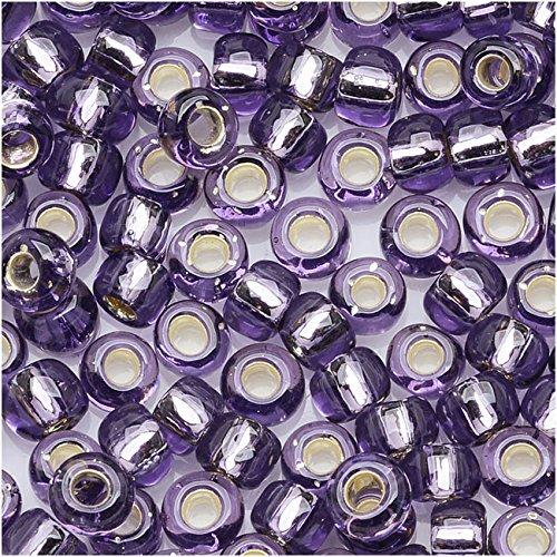Toho Round Seed Beads 6/0#39 - Silver Lined Tanzanite (8 Grams)