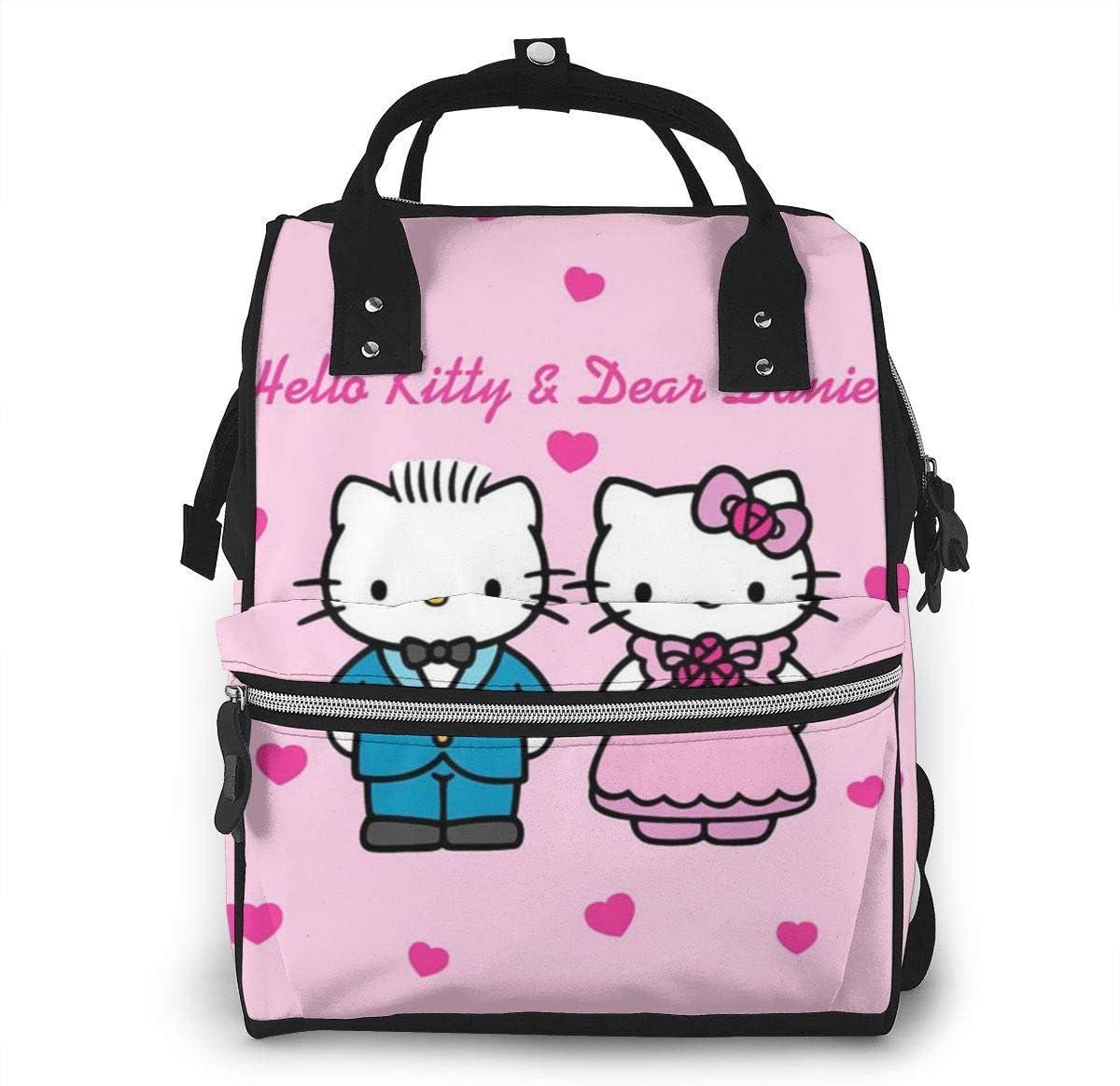 Mochila para pañales – Hello Kitty y Dear Daniel Boda Multifunción Impermeable Mochila de Viaje Bolso cambiador de pañales