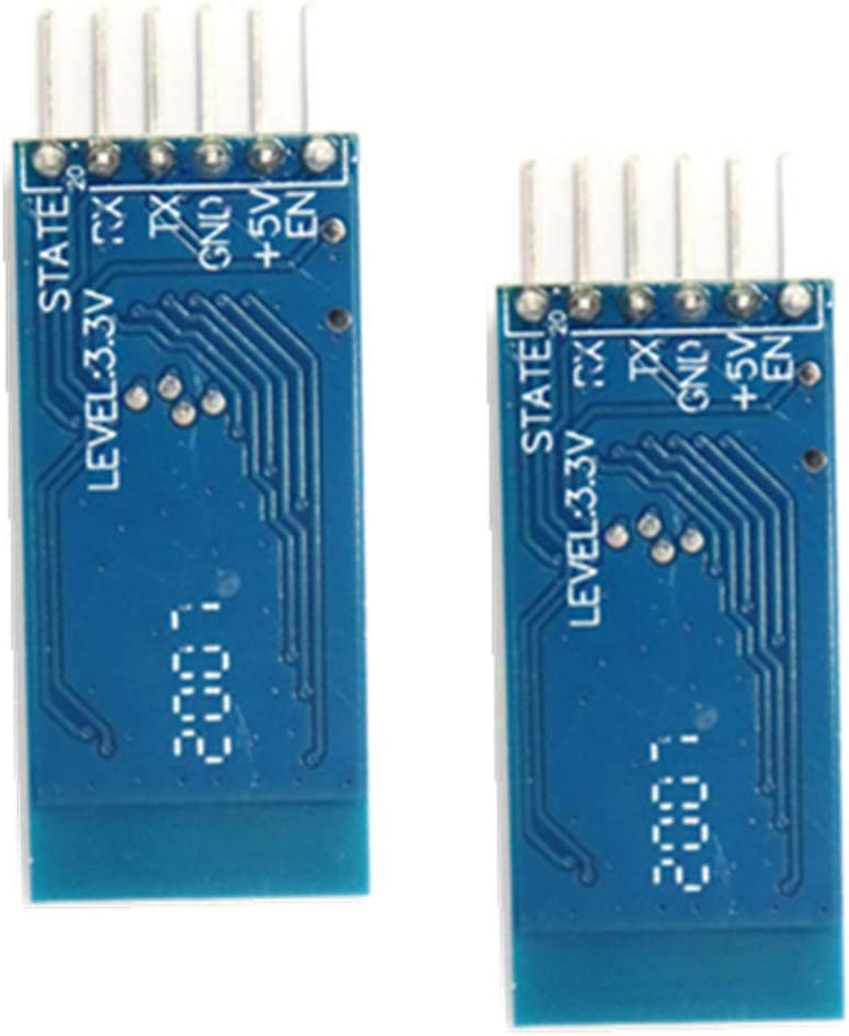 A HC-05 Wireless Bluetooth RF Transceiver Master Slave Integrated Bluetooth Module 6 Pin Wireless Serial Port Communication BT Module Compatible with Arduino N
