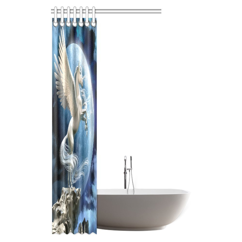 Amazon.com: InterestPrint Horse Decor Shower Curtain, Pegasus Horse ...