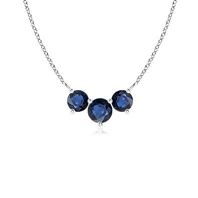 Angara Classic Trio Sapphire Necklace hs7VjMd