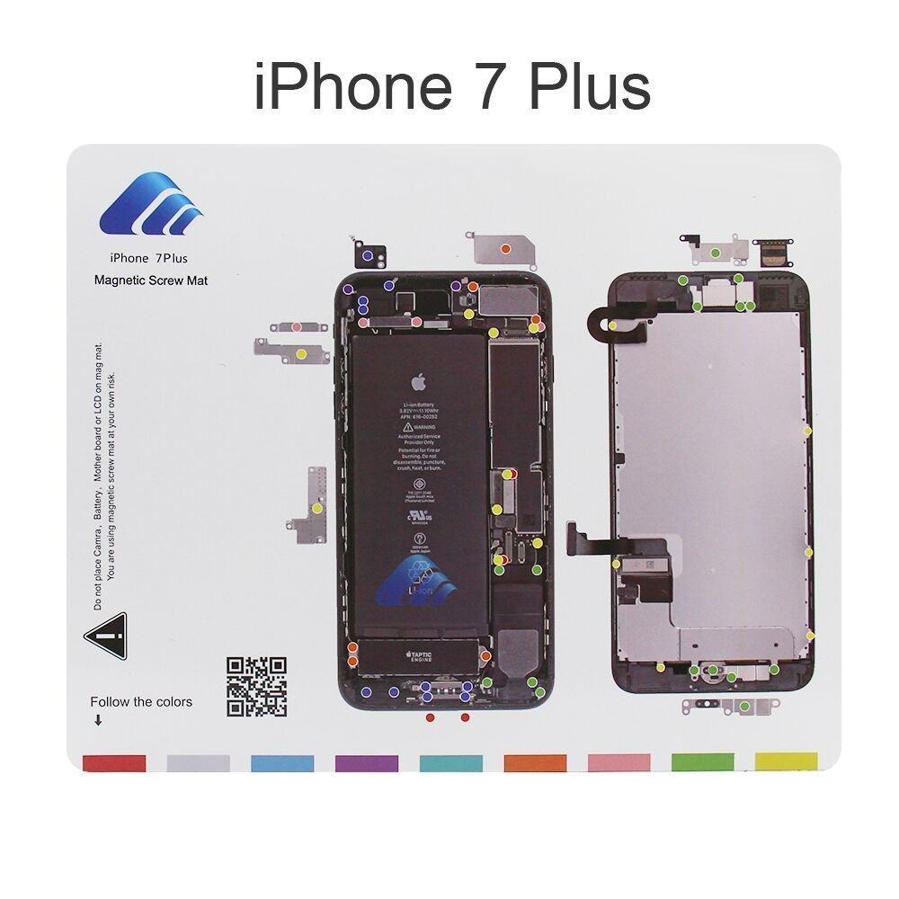 X-Sea Design Magnetic Project Mat Repair Guide Pad Screw Keeper Chart Map Professional Guide Pad Repair Tools for iPhone 7 Plus 720073-5