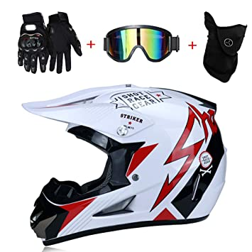 Casque De Sport Moto Bike Atv Road Dirt Motocross Dual Off DOT pzVqMSUGL