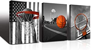 Black and white Canvas Wall Art for living room bathroom and bedroom kitchen wall decor artwork Canvas Prints play basketball sport painting 12