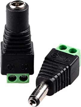 LED 20 X 2.1 x 5.5mm DC Power Female Plug Jack Adapter Connector for CCTV