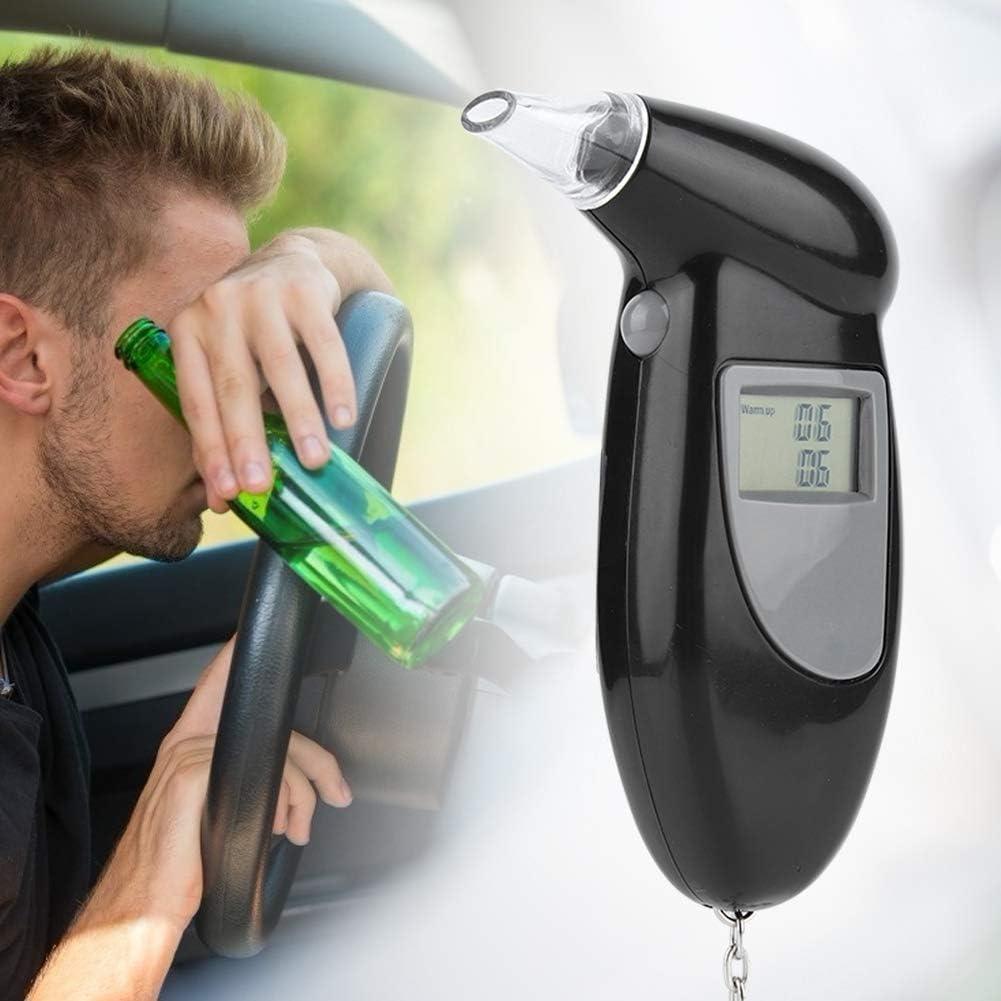 KIMISS Digital LCD Screen Alcohol Tester Alcohol Tester Portachiavi portatile Analizzatore di respiro con 10//20//50 PC Breathalyzer con 10 getti respiratori