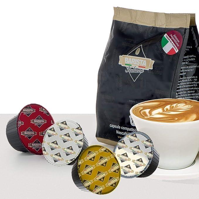 Barista Italiano 80 Dolce Gusto Cápsulas Compatibles (CREMOSO TOP ESPRESSO, 80 Cápsulas, 80 Porciónes)