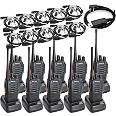 BaoFeng BF-888S Two Way Radio Long Range UHF 400-470MHz Signal Frequency Single Band 16 CH Walkie Talkies and Covert Air Acoustic Tube Earpiece (Pack of 10)This model has been FCC certified,FCC ID: ZP5BF-888SUHF(Ultra High Frequency) Walkie T...
