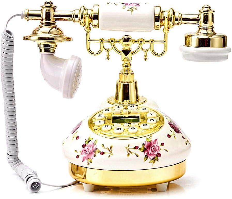 Circulor Retro Telefon Vintage Keramisches Europäisches Telefon Amerikanisches Antikes Telefon Festnetz Retro Telefon Kreatives High End Telefon Küche Haushalt