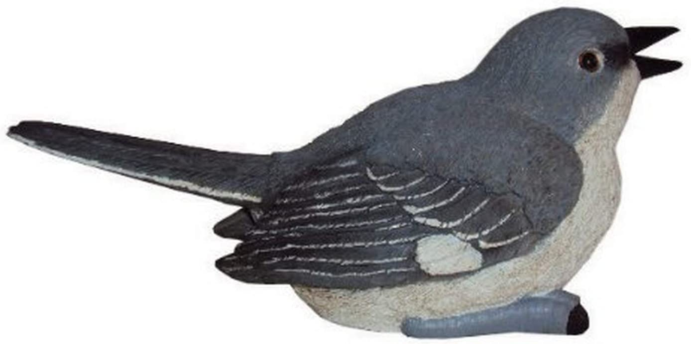 Chirper Mockingbird Statue by Michael Carr Designs - Outdoor Bird Figurine for gardens, patios and lawns (80029)