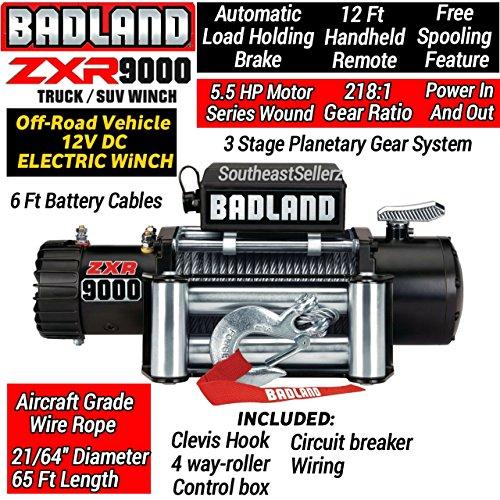 Badland 9000 Lb Off-road Electric Winch (9000 Lb Electric Winch)