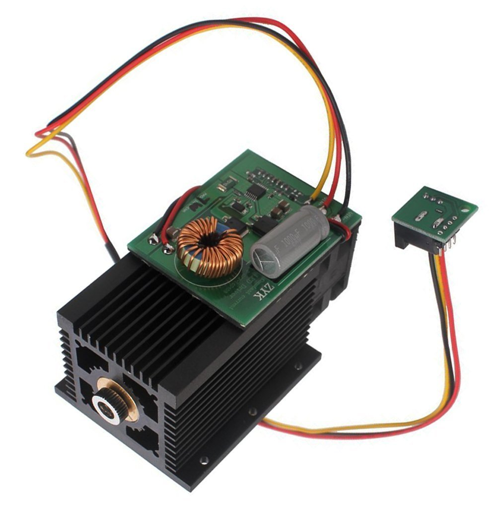 Zowaysoon 15W 15000mW Pulse 450nm Universal High Power Laser Module Head DC 12V for DIY Metall Stone Gravur Cutting USB Laser Engraving Machine